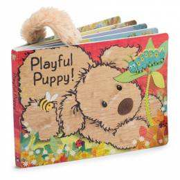 Jellycat Board Book- Playful Pup Buddy Plush