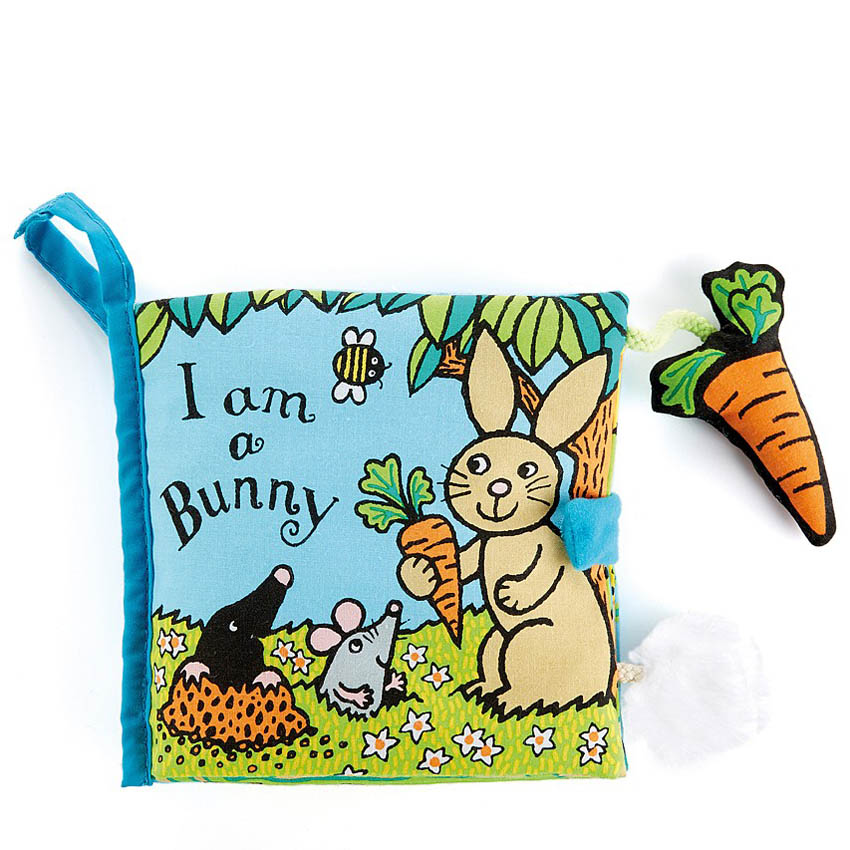Jellycat I am a Bunny Soft Touch-and-Feel Baby Book