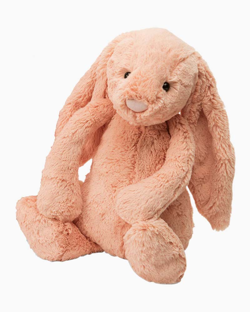 Jellycat Bashful Peach Bunny Plush (Medium)