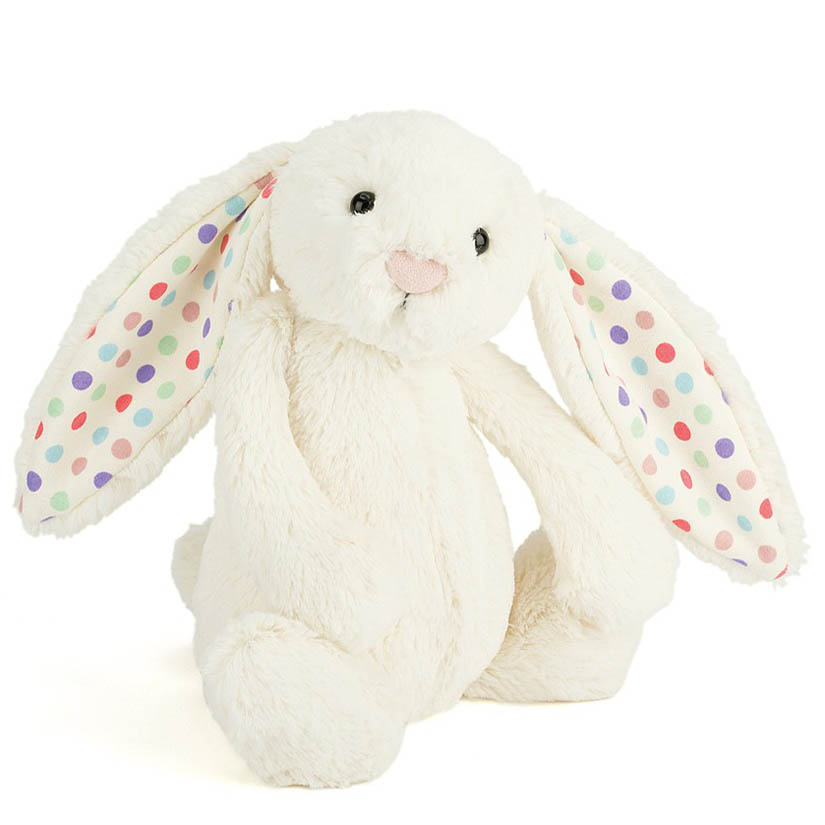 Jellycat Bashful Polka Dots Bunny Plush (Medium)