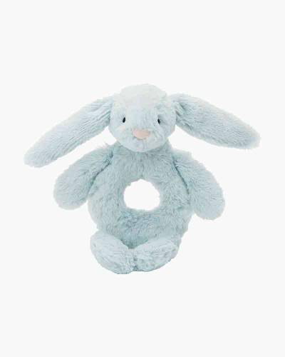Bashful Blue Bunny Ring Rattle