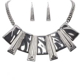 The Paper Store Dangling Bar Necklace and Earrings Set