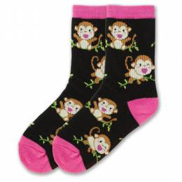 K. Bell Monkey Girl's Crew Socks