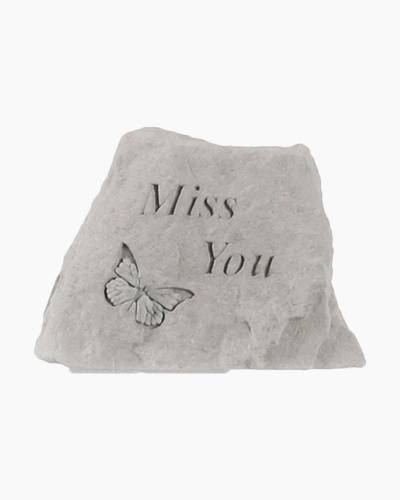 Butterfly Miss You Stone Decoration