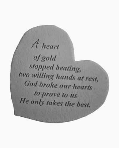 A Heart Of Gold Garden Stone by Kay Berry