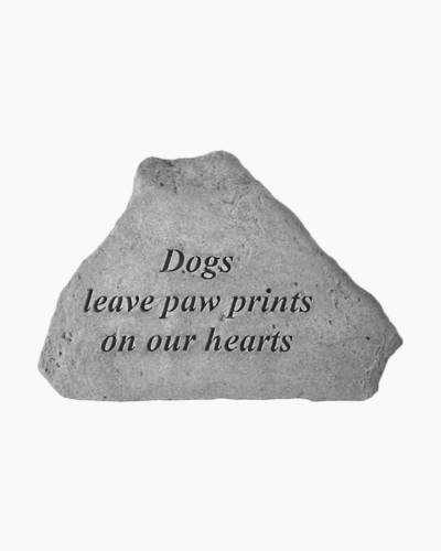 Dogs Leave Paw Prints Stone Decoration
