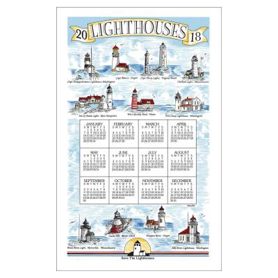Lighthouses 2018 Calendar Towel