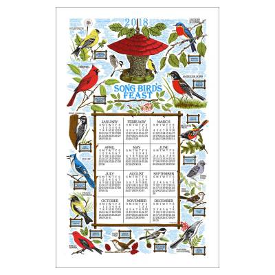 Song Bird's Feast 2018 Calendar Towel