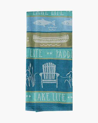 Lake Life Jacquard Tea Towel