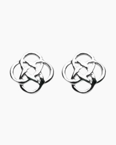 Open Knot Stud Earrings