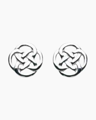 Round Open Knot Stud Earrings