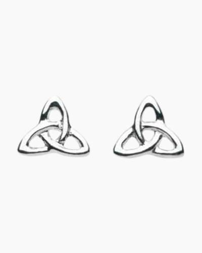 Trilogy Knot Stud Earrings