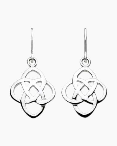 Open Knot Drop Earrings