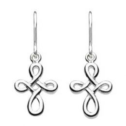 Kit Heath Twist Celtic Cross Drop Earrings