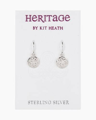 Round Scrollwork Heritage Earrings in Sterling Silver