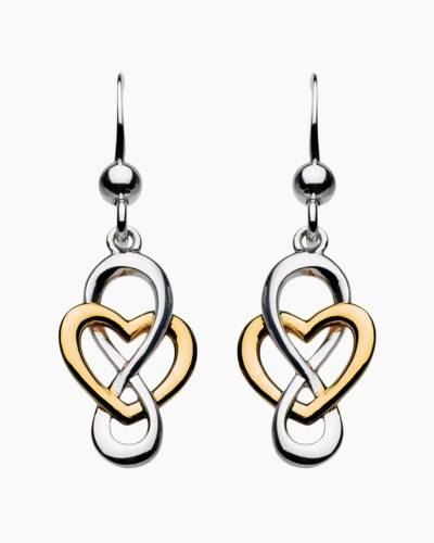 Two Tone Infinity Earrings