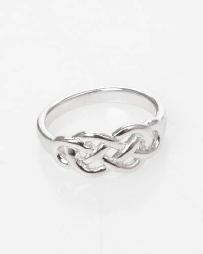 Moire Celtic Figure of Eight Ring in Silver