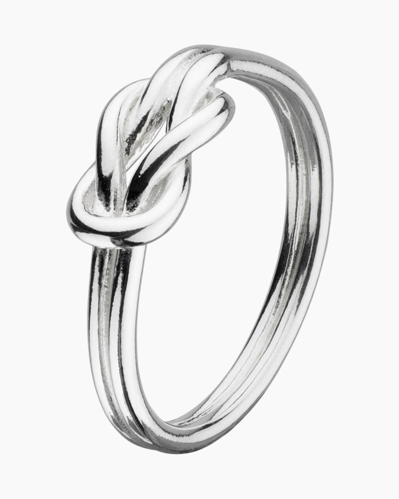 Kit Heath Silver Sailor's Knot Ring (Size 6)