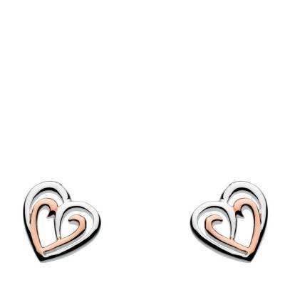 Rose Gold Heart Amena Earrings