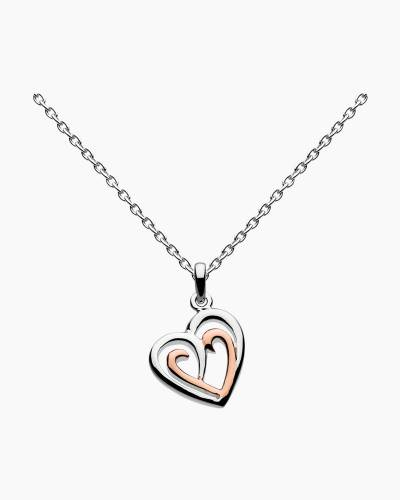 Rose Gold Heart Amena Necklace