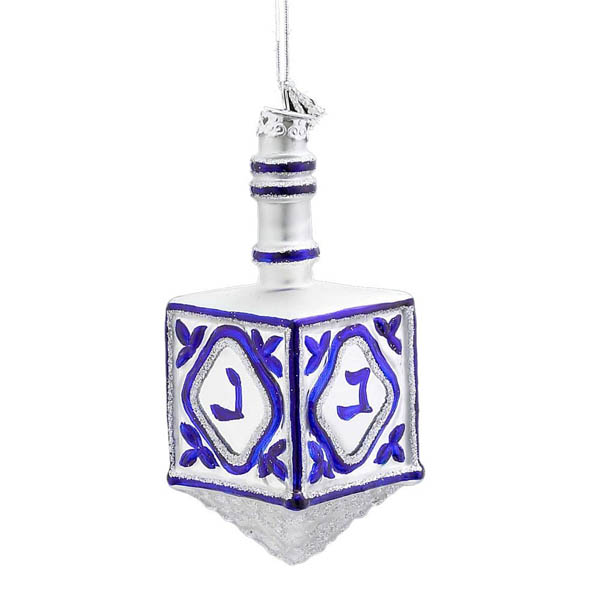 Kurt S. Adler Glass Dreidel Ornament