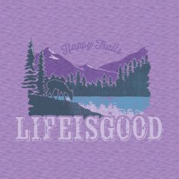 Life is Good Women's Happy Trails Crusher Tee