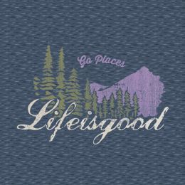 Life is Good Women's Go Places Crusher Tee
