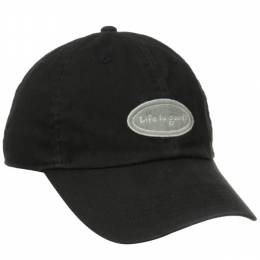 Life is Good Women's Black Oval Logo Chill Cap