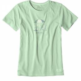 Life is Good Women's I Like It here Beach Crusher Tee