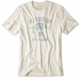 Life is Good Men's Fired Up Grilled Crusher Tee