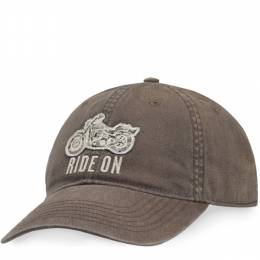 Life is Good Men's Dark Brown Ride on Rough Wash Cap