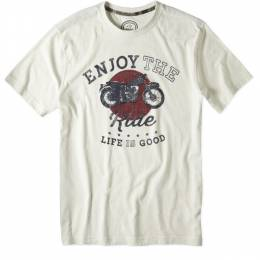 Life is Good Men's Enjoy The Ride Motorcycle Creamy Tee