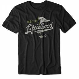 Life is Good Men's Tee It Up Golf Cool Tee