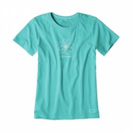 Life is Good Women's Open Daisy Crusher Tee