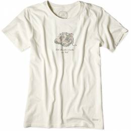 Life is Good Women's Ivory Not All Who Wander Boots Crusher T-Shirt