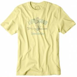Life is Good Men's Yellow Stand Up Guy Crusher T-Shirt