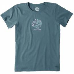 Life is Good Women's Pacific Blue Peace Seasons Crusher Tee