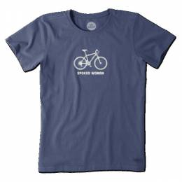 Life is Good Women's Blue Spokes Woman Crusher Tee