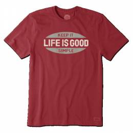 Life is Good Men's Red Keep It Simple Crusher Tee