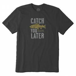 Life is Good Men's Black Catch You Later Crusher Tee