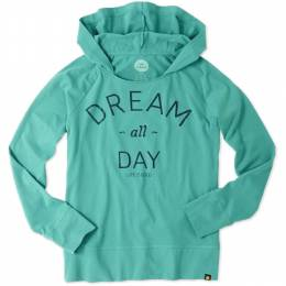 Life is Good Women's Teal Dream All Day Pullover Hoodie