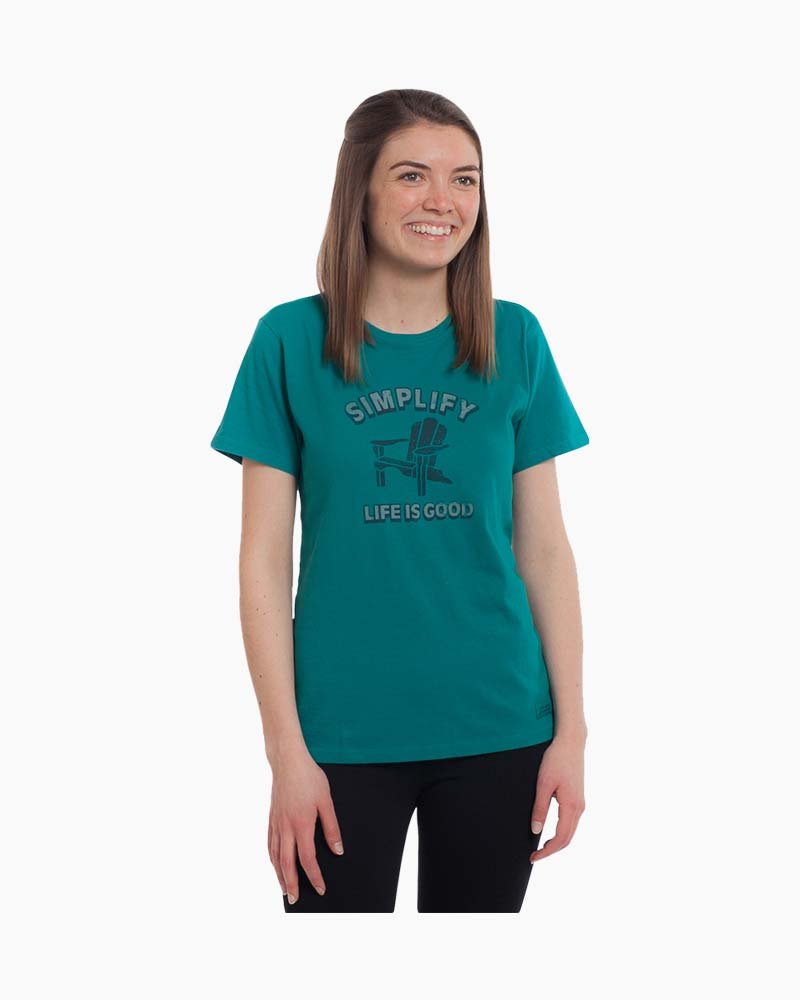 Life is Good Women's Simple Adirondack Crusher Tee