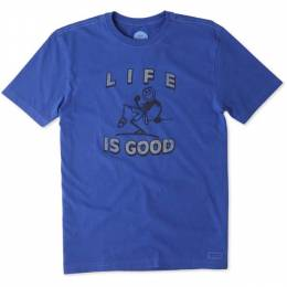Life is Good Men's Pump Putt Crusher Tee