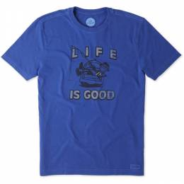 Life is Good Men's Kickback Fish Crusher Tee
