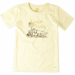 Life is Good Women's Watercolor Garden Party Crusher Tee