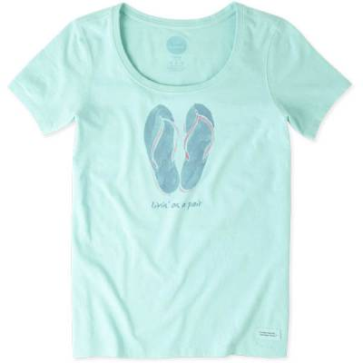 Women's Watercolor Living Flip Flops Crusher Tee
