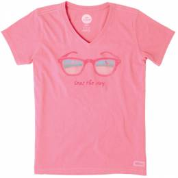 Life is Good Women's Seas the Day Crusher Vee Tee