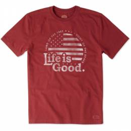 Life is Good Men's Land of the Free Crusher Tee