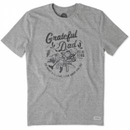 Life is Good Men's Watercolor Grateful Dad Adirondack Crusher Tee