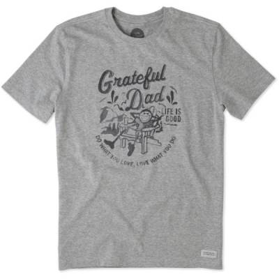 Men's Watercolor Grateful Dad Adirondack Crusher Tee